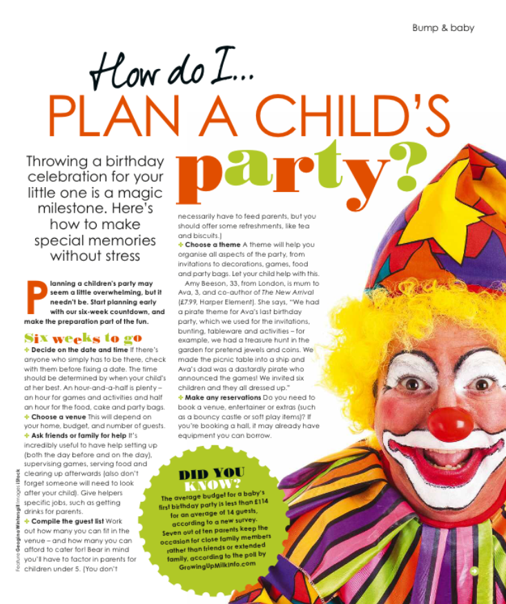 how to plan a child's birthday party prima baby